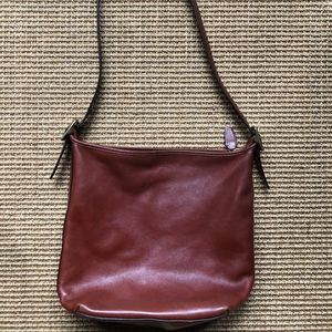 Coach Satchel Bag - Brown Leather